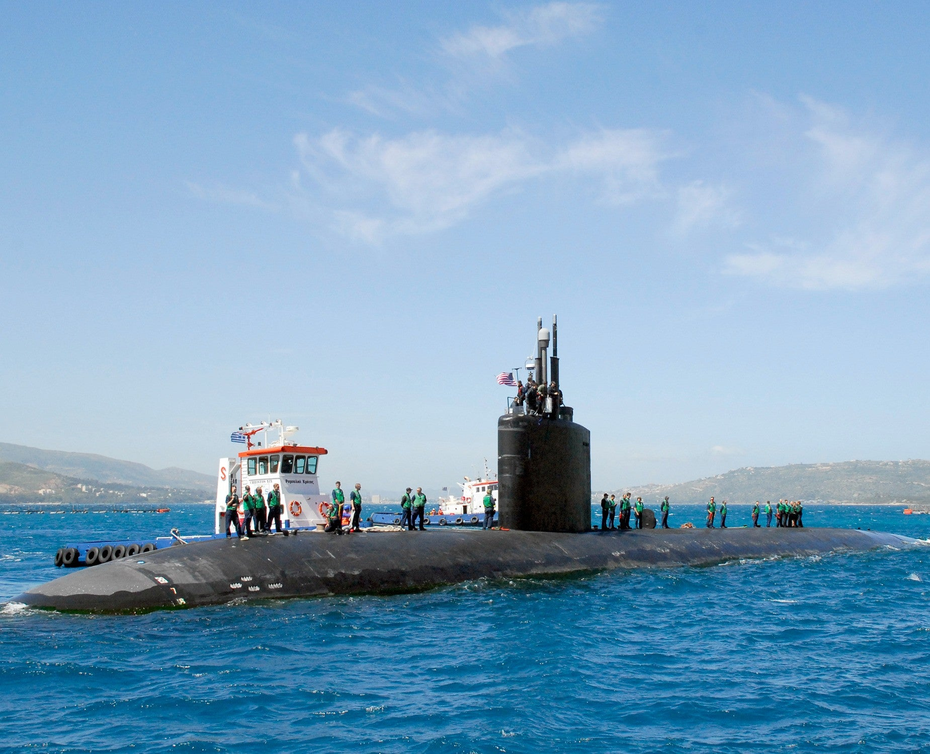 "Submarine USS Montpelier SSN-765 Souda Bay, Crete April 15, 2008 - 8 x 10"" Photograph"