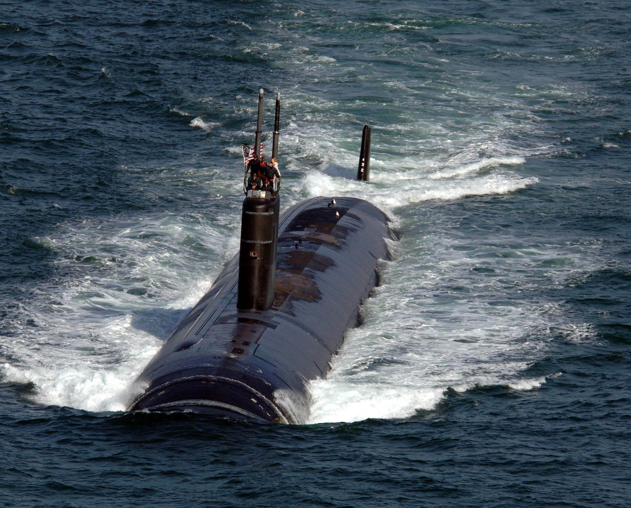 "Submarine USS Asheville SSN-758 San Diego February 15, 2006 - 8 x 10"" Photograph"