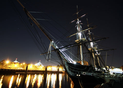 "USS Constitution Moored Charlestown Navy Yard April 5, 2012 - 8 x 12"" Photograph"