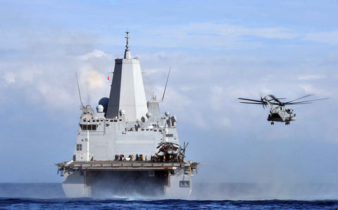 "A CH-53 Sea Stallion Helicopter from USS Mesa Verde LPD-19 Mediterrnean Sea October 24, 2011 - 8 x 12"" Photograph"