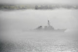 "USS Milius DDG-69 Transits the San Francisco Bay October 11, 2011 - 8 x 12"" Photograph"