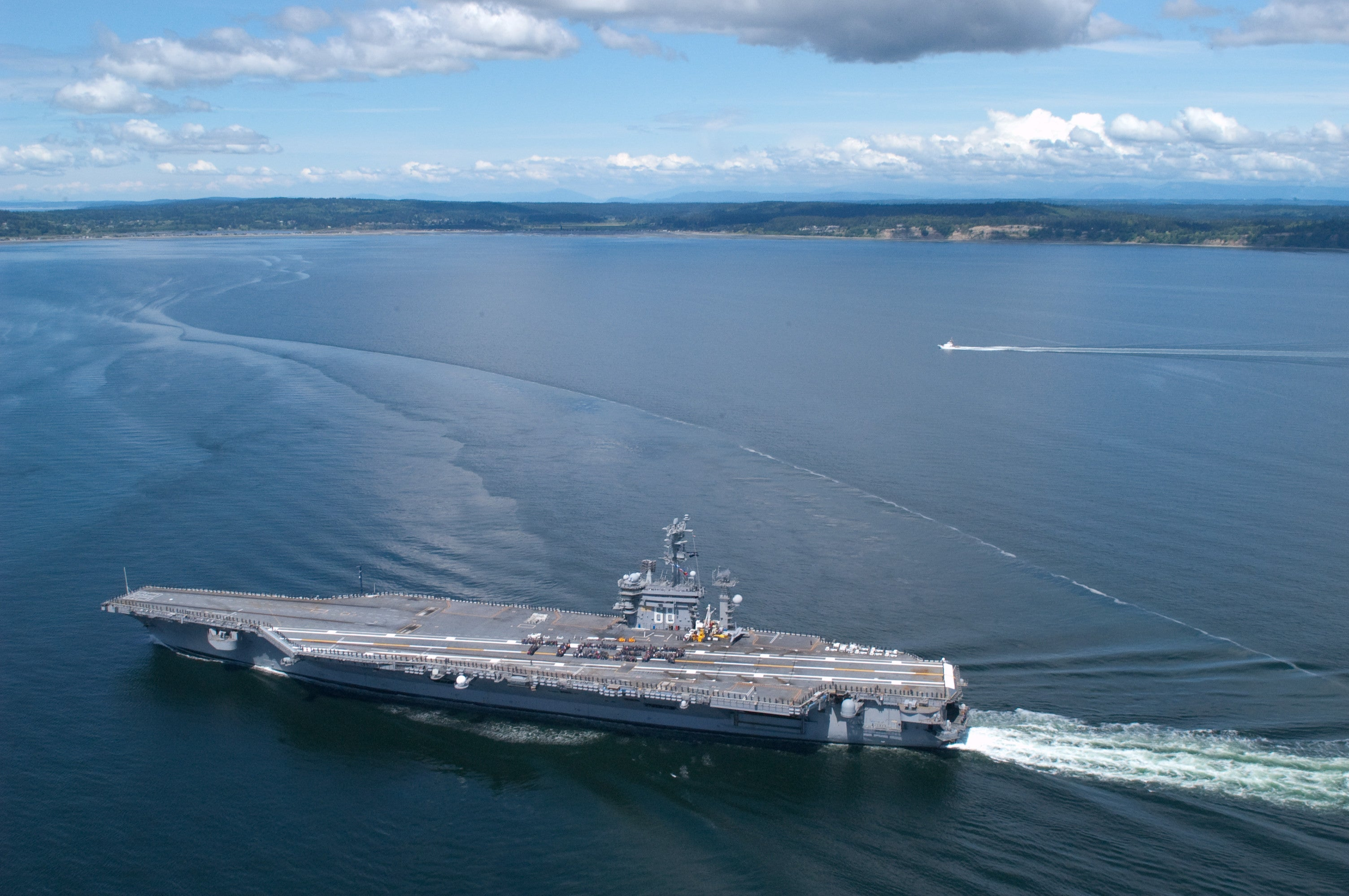 "USS Nimitz CVN-68 Puget Sound, WA May 24, 2012 - 8 x 12"" Photograph"