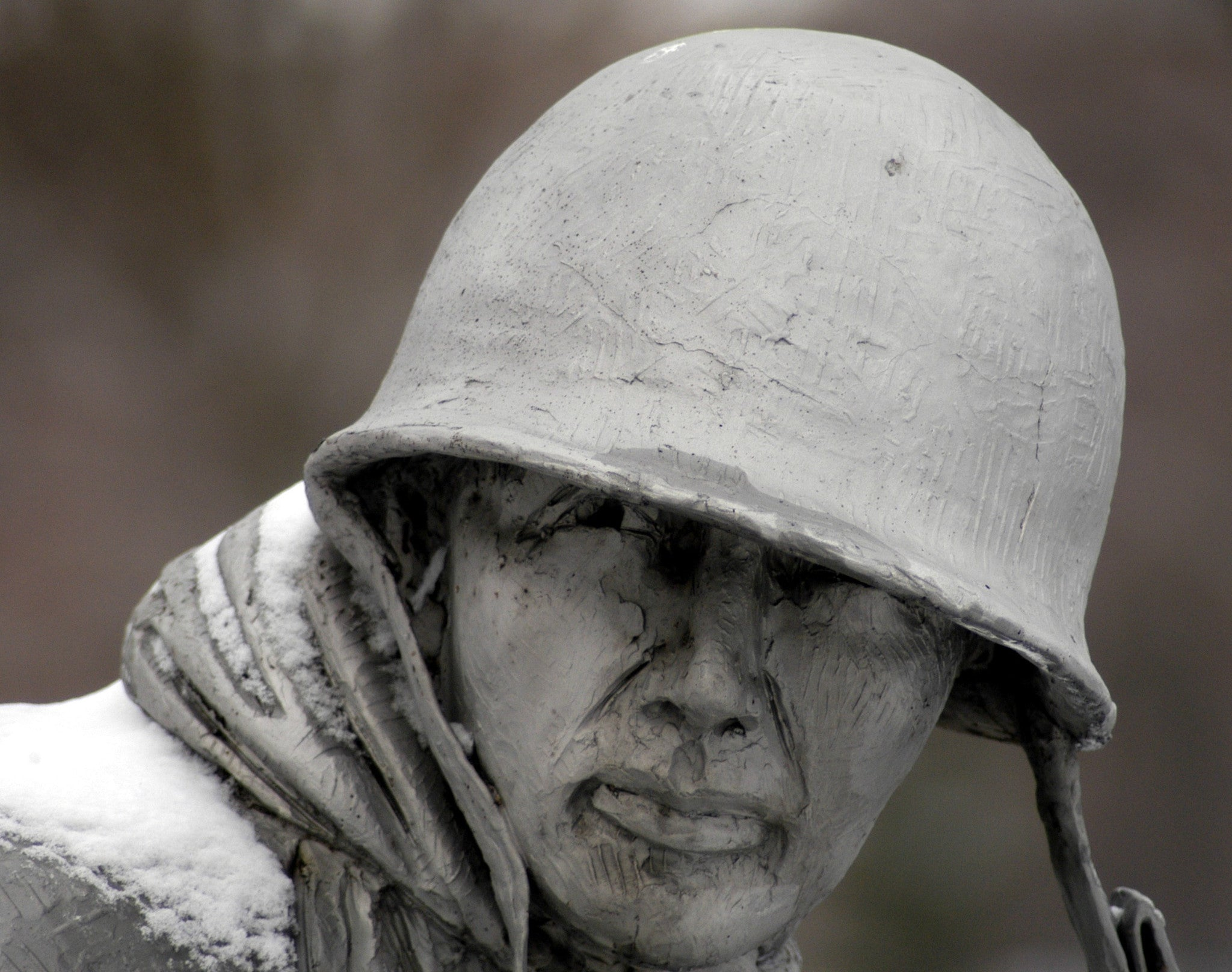 "Korean War Veterans Memorial in Washington, D.C. March 8, 2005 - 8 x 10"" Photograph"