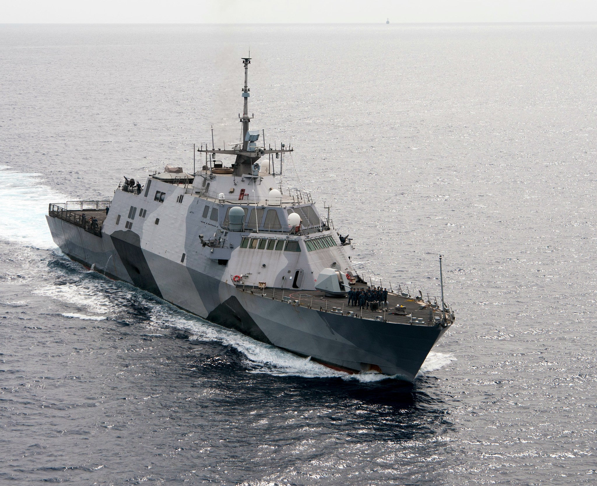 "Littoral Combat Ship USS Freedom LCS-1 Pearl Harbor December 13, 2013 - 8 x 10"" Photograph"
