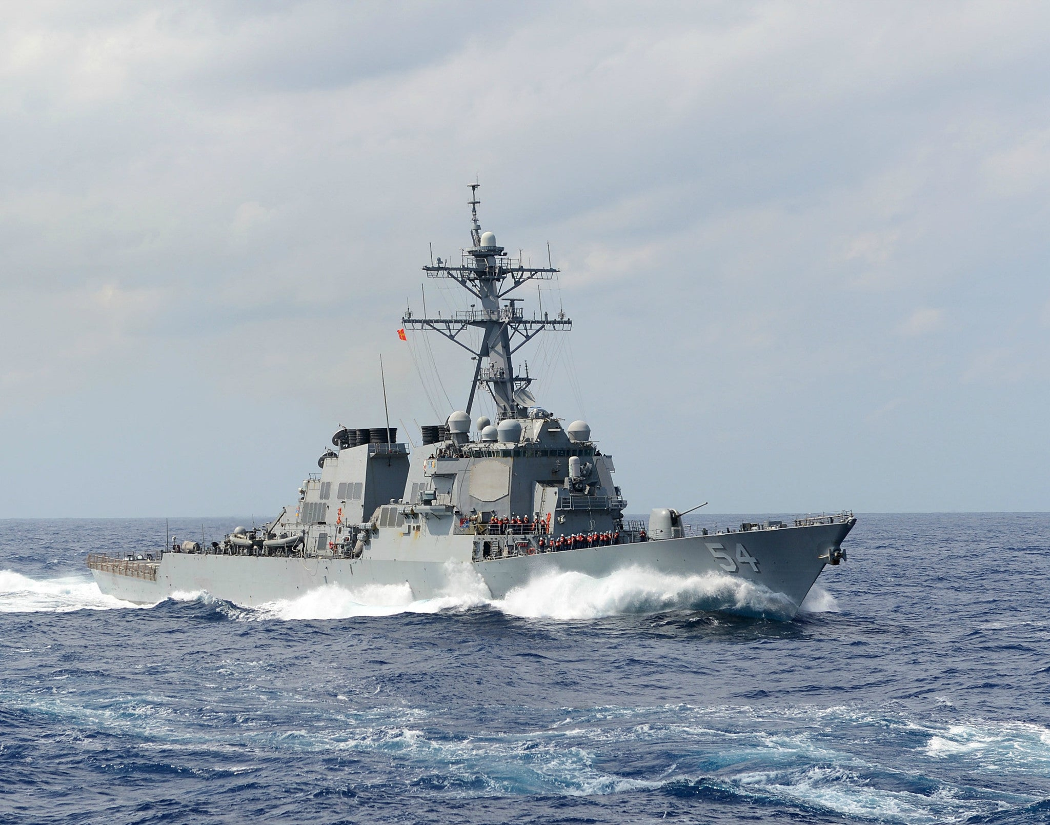 "USS Curtis Wilbur DDG-54 East China Sea September 27, 2013 - 8 x 10"" Photograph"