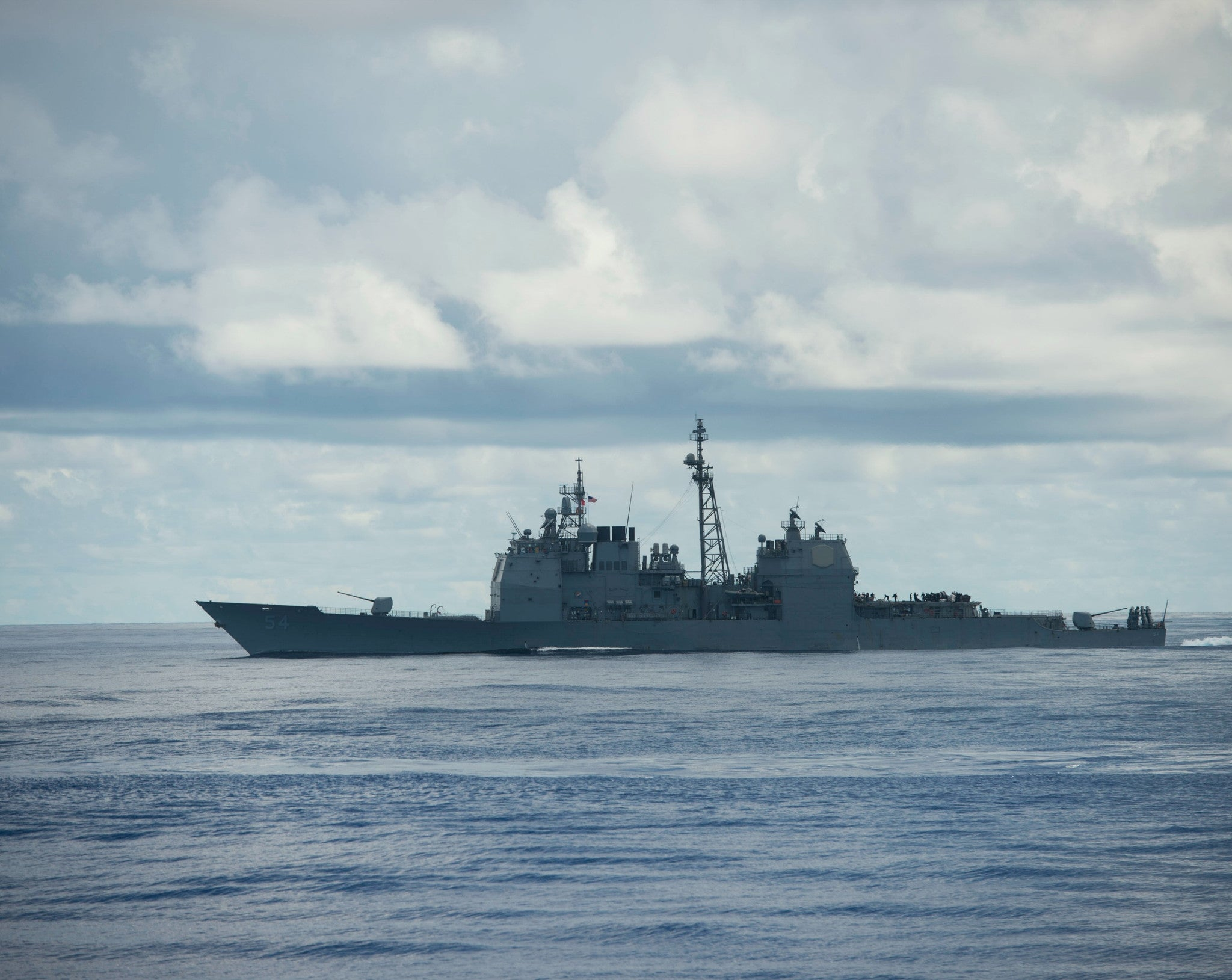 "USS Antietam CG-54 Philippine Sea August 13, 2012 - 8 x 10"" Photograph"