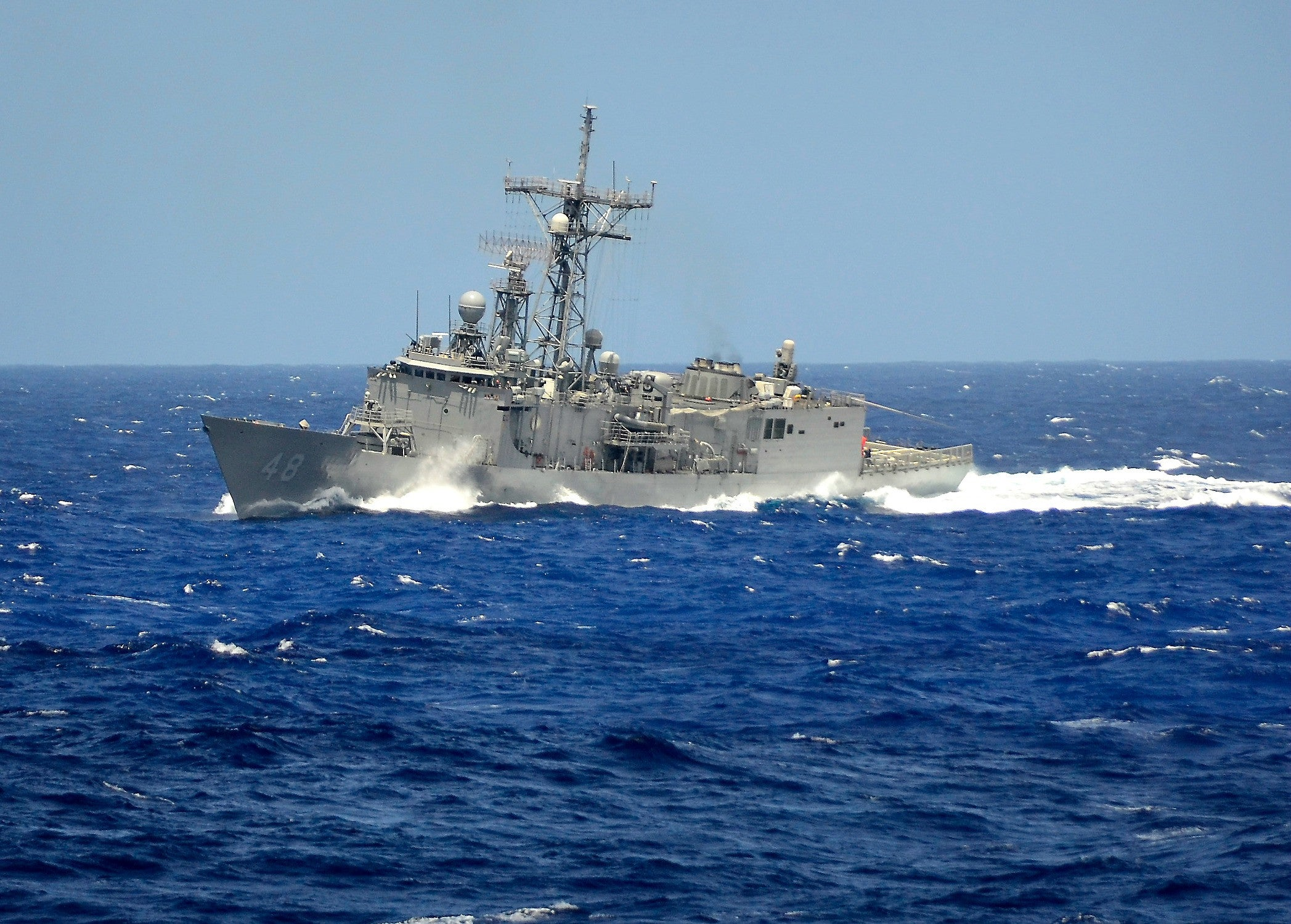 "USS Vendegrift FFG-48 Pacific Ocean March 31, 2012 - 5 x 7"" Photograph"