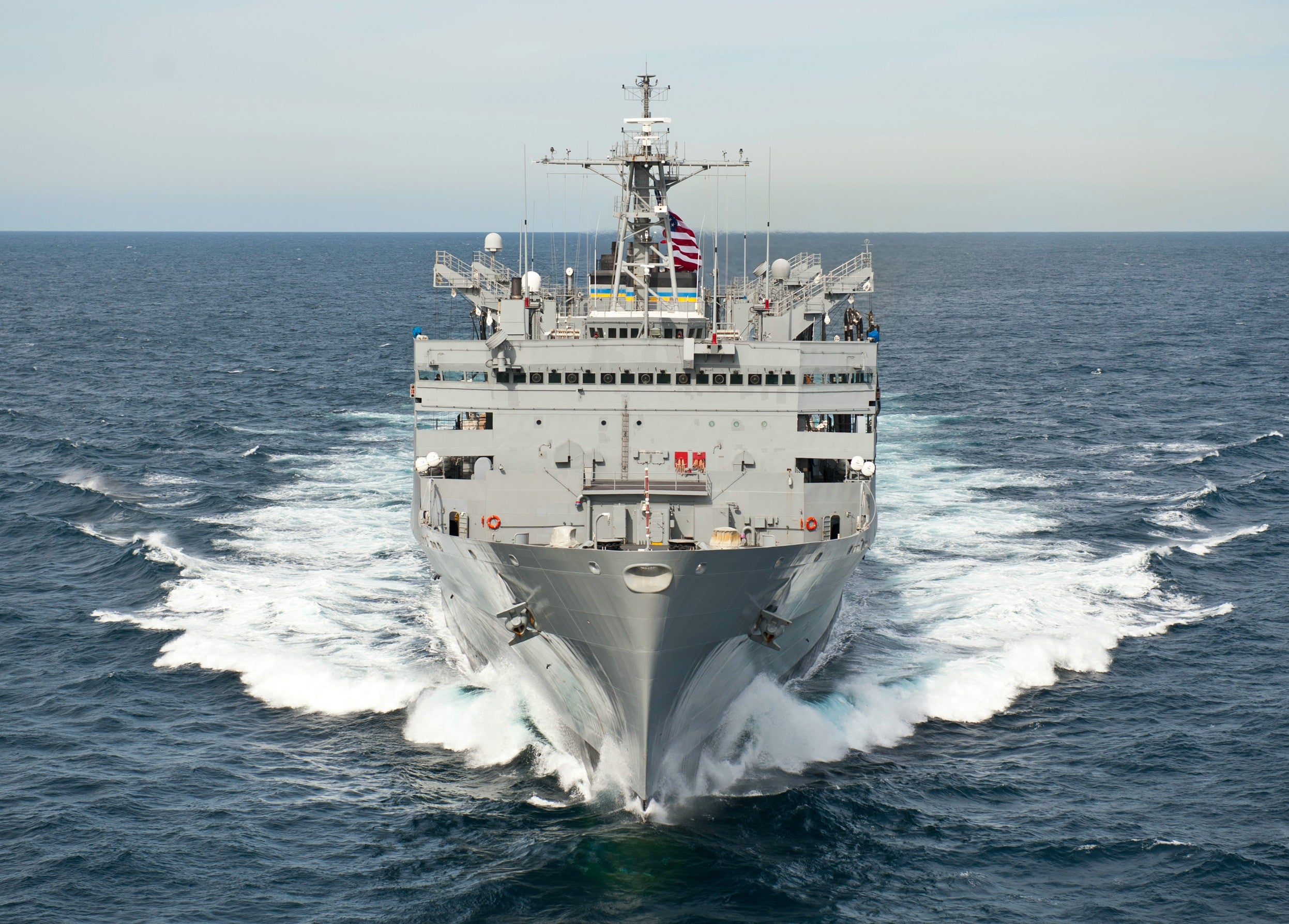 "USNS Supply T-AOE-6 Atlantic Ocean March 22, 2012 - 5 x 7"" Photograph"