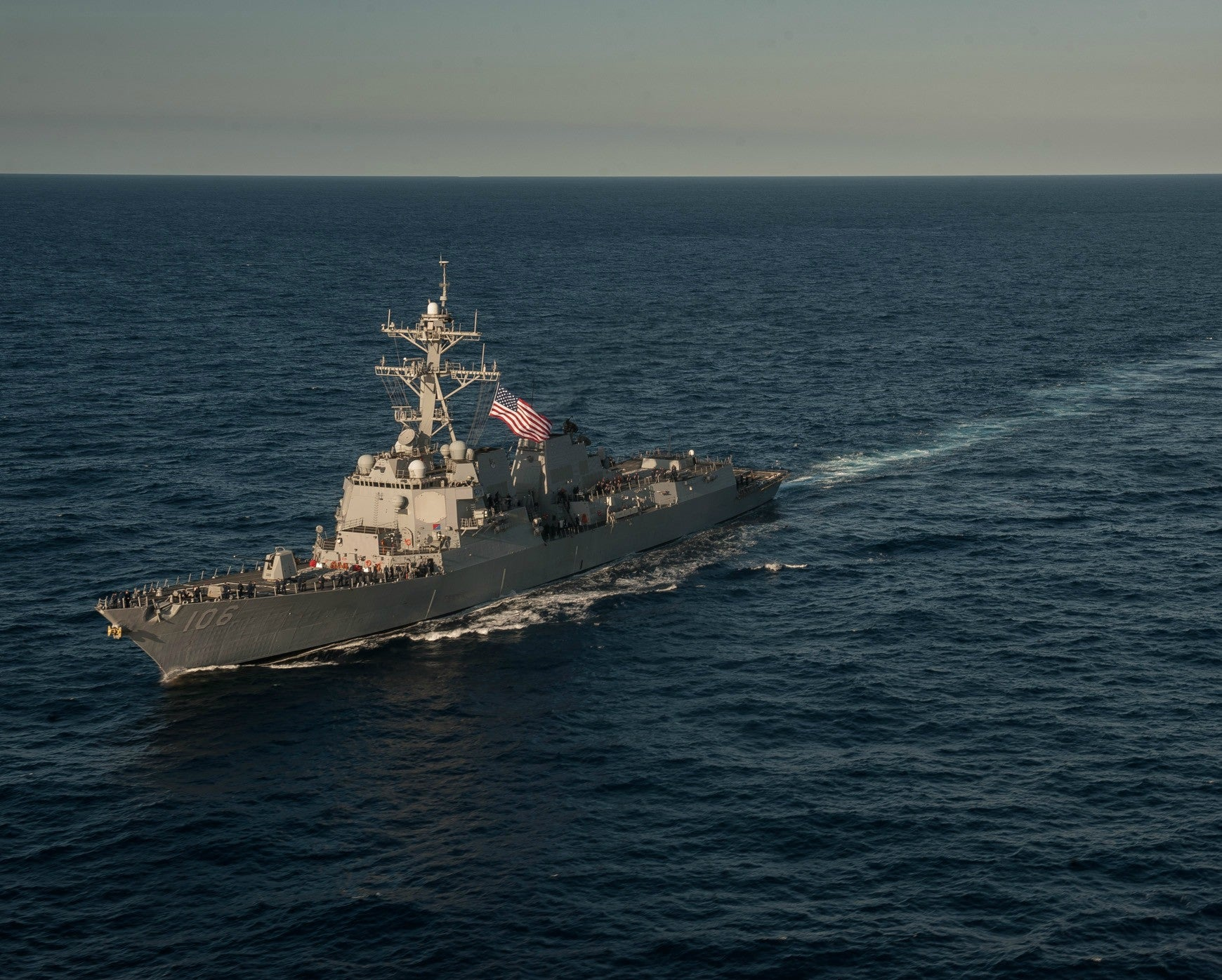 "USS Stockdale DDG-106 South China Sea February 11, 2013 - 8 x 10"" Photograph"
