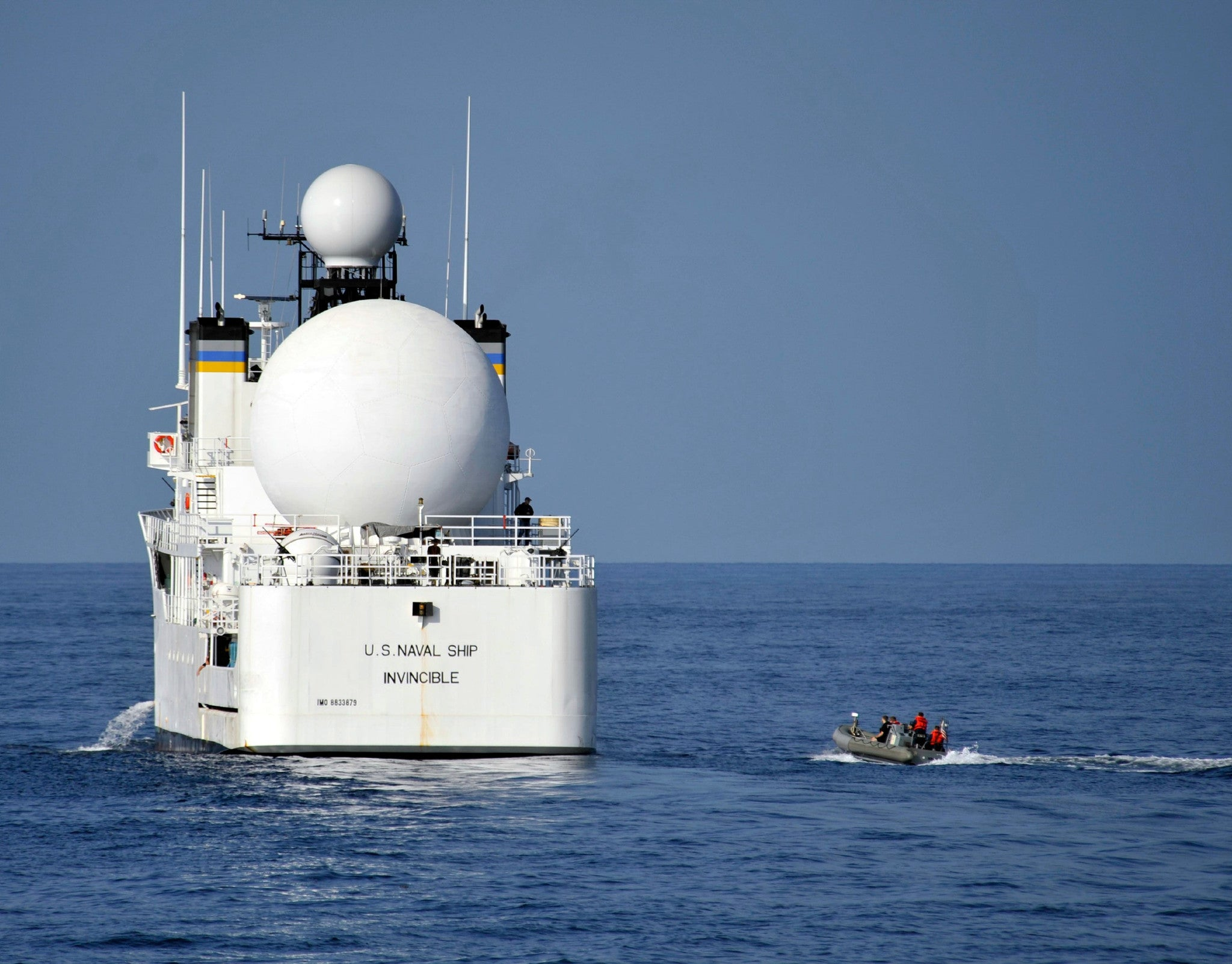"Military Sealift Command Missile Range Instrumentation Ship USNS Invincible (2012) - 8 x 10"" Photograph"