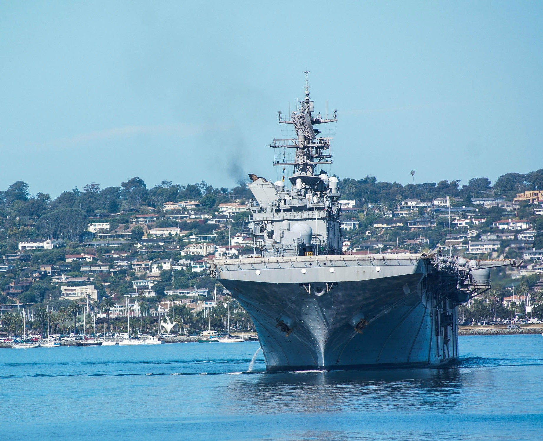 "USS Makin Island LHD-8 Returns to Homeport San Diego September 7, 2012 - 8 x 10"" Photograph"