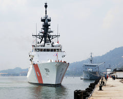"Coast Guard National Security Cutter USCGC Waesche WMSL-751 Lumut, Malaysia June 14, 2012 - 8 x 10"" Photograph"