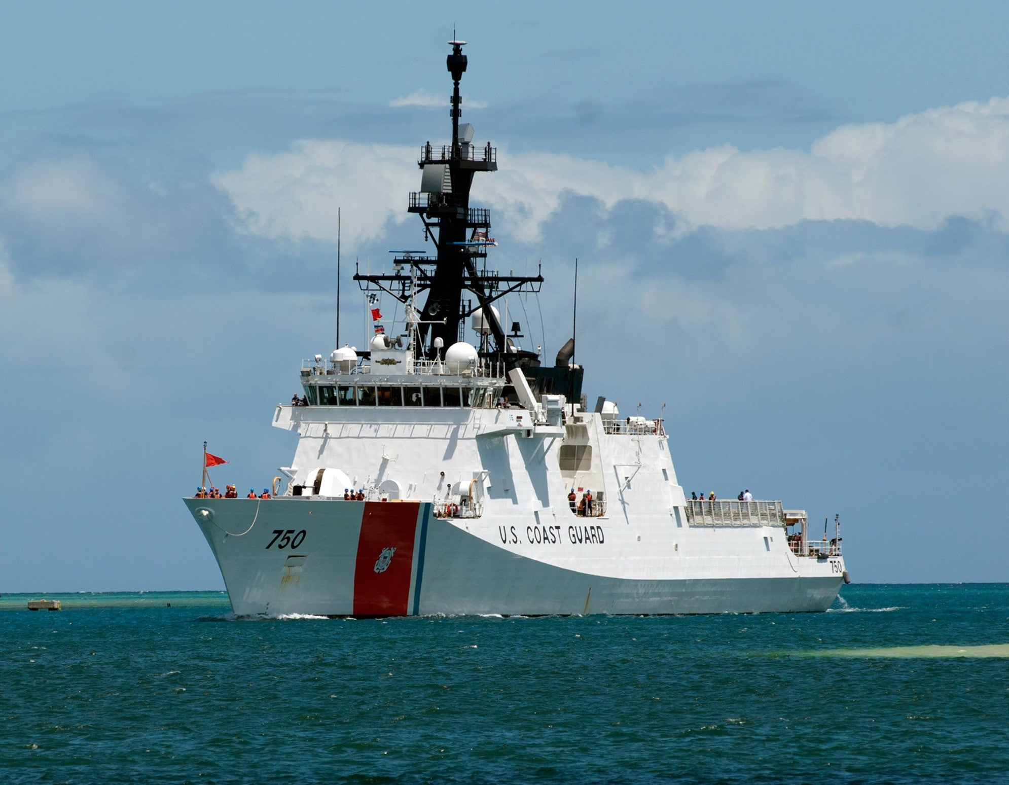 "Coast Guard Security Cutter USCGC Bertholf WMSL-750 Pearl Harbor June 29, 2012 - 8 x 10"" Photograph"