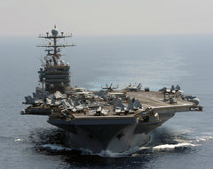 "USS Abraham Lincoln CVN-72 Transits the Indian Ocean (Jan 18, 2012) - 8 x 10"" Photograph"