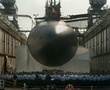 "Submarine USS Salt Lake City SSN-716 in Dry Dock San Diego, CA May 16, 2003 - 8 x 10"" Photograph"