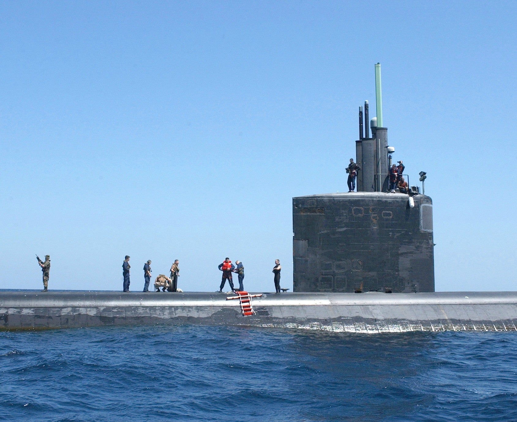 "USS Toledo SSN-769 Central Command Area of Responsibility March 27, 2003 - 8 x 10"" Photograph"