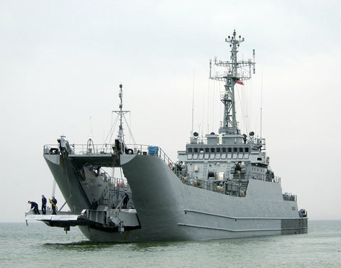 "Polish Navy Lublin-class Minelayer/LST ORP Poznan Ustka, Poland June 11, 2004 - 8 x 10"" Photograph"
