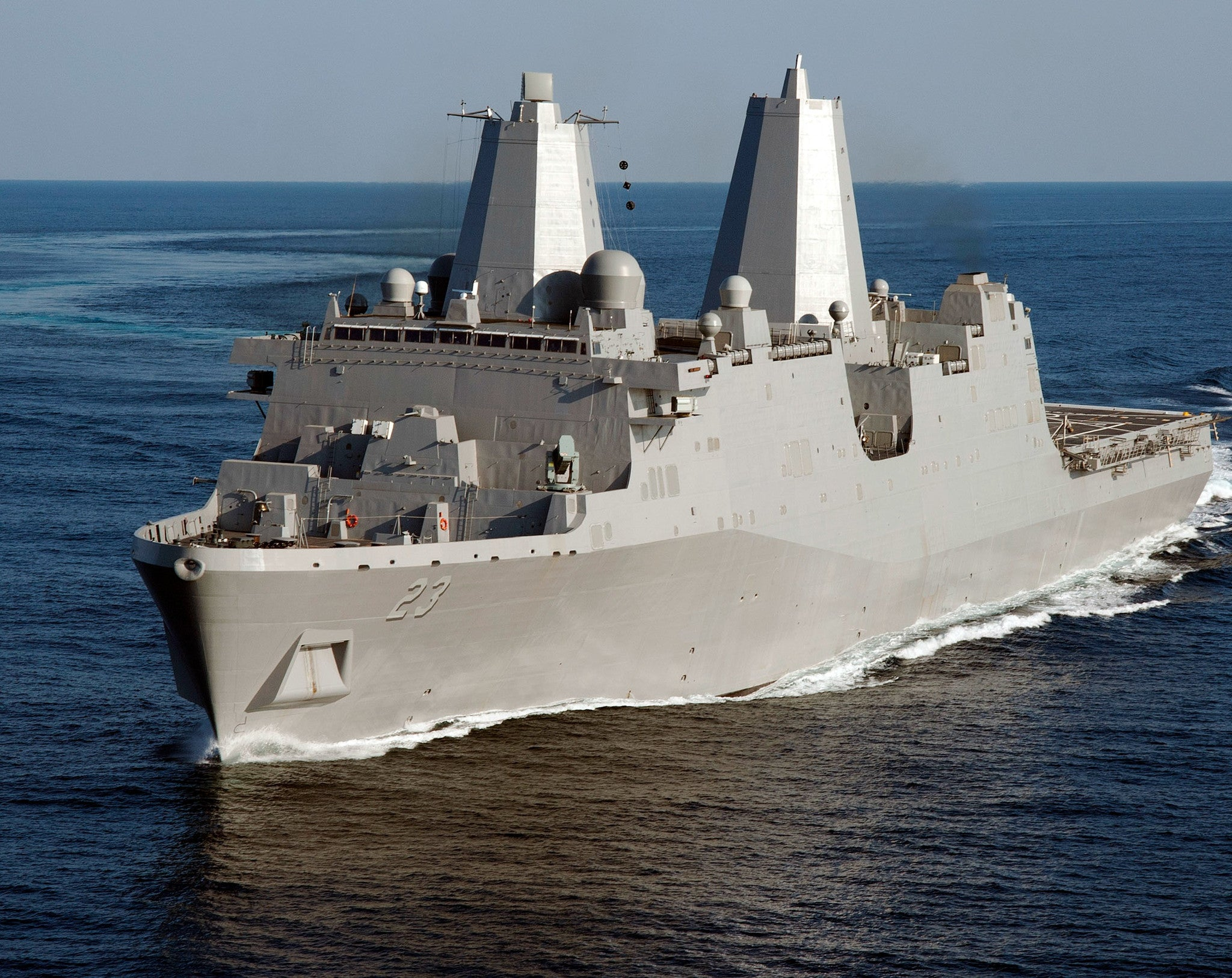 "Pre-Commissioning Unit (PCU) Anchorage LPD-23 Gulf of Mexico May 15, 2012 - 8 x 10"" Photograph"