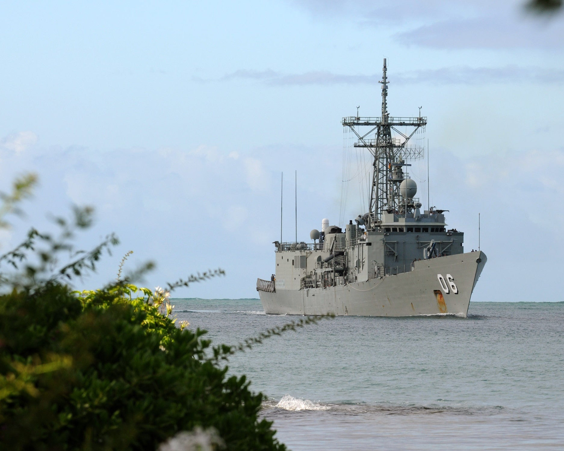"HMAS Newcastle FFG-06 Returns to Joint Base Pearl Harbor-Hickam (July 30, 2010) - 8 x 10"" Photograph"