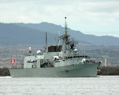 "Canadian Navy Frigate HMCS Ottawa FF-341 Arrives at Naval Station Pearl Harbor (June 27, 2008) - 8 x 10"" Photograph"