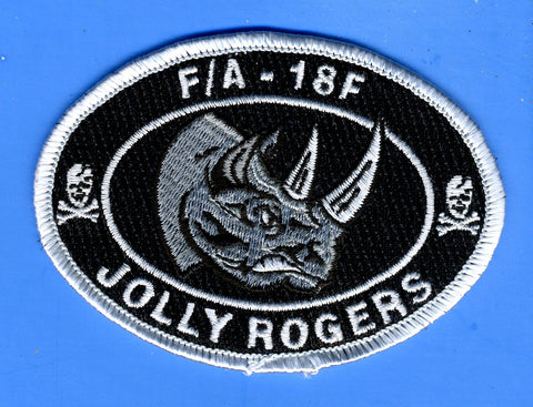 "F/A - 18F Jolly Rogers Strike Fighter Squadron 103 (VFA-103) Patch 3 1/2"" Wide x  2 1/2"" High"