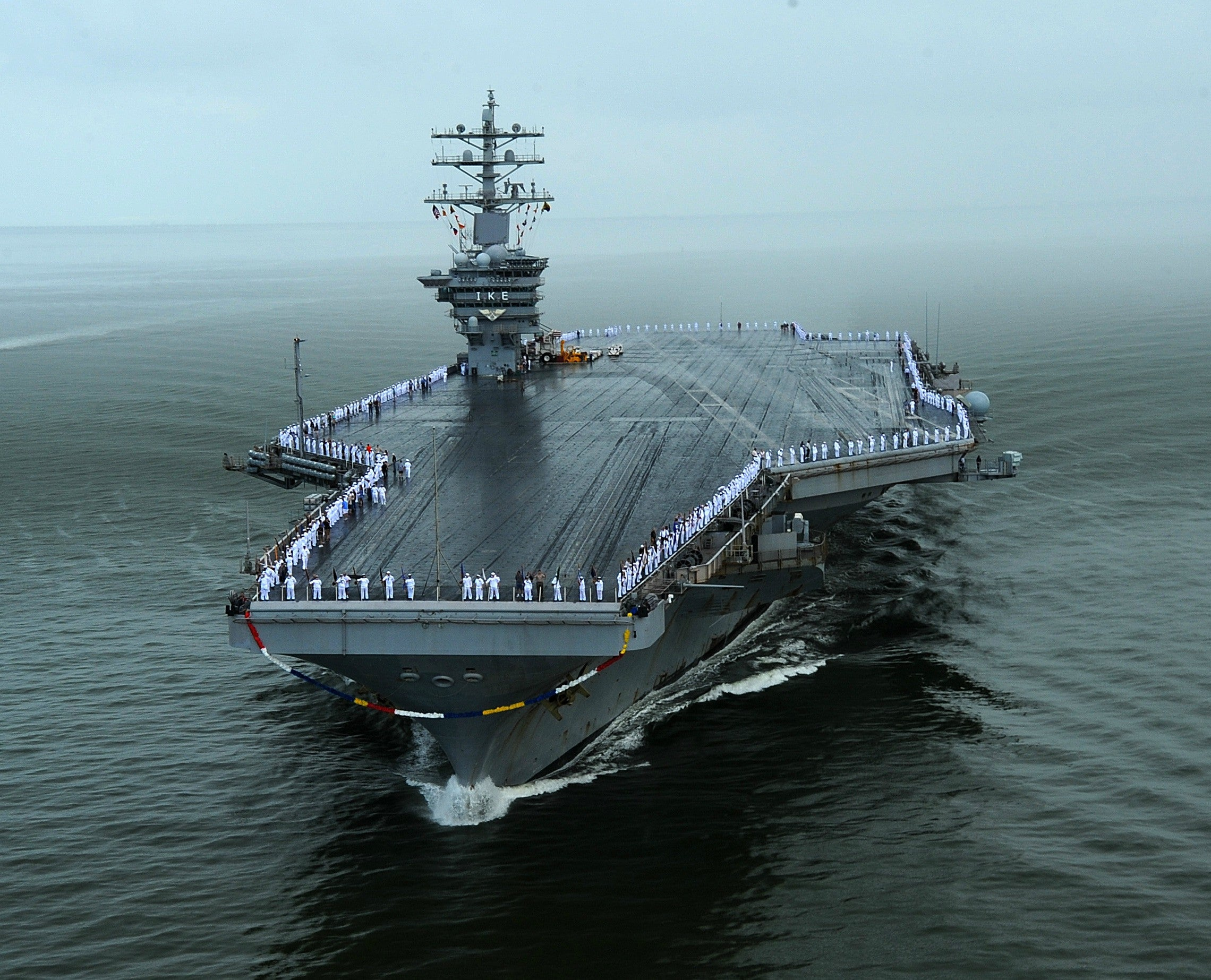 "USS Dwight D. Eisenhower CVN-69 Norfolk, VA July 3, 2013 - 8 x 10"" Photograph"