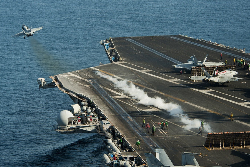 "F/A-18C Hornet Launches from USS John C. Stennis CVN-74 - 4"" x 6"" Photograph"