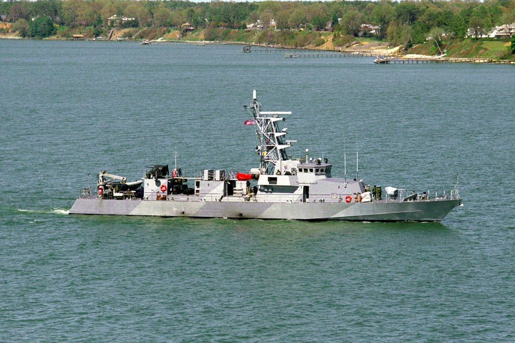 "Patrol Craft USS Firebolt PC-10 Yorktown, VA. (Apr. 5, 1999) - 4"" x 6"" Photograph"