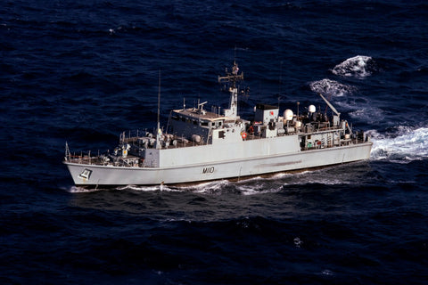 "Royal Navy Mine Countermeasures Ship HMS Ramsey M110 Transits the Arabian Gulf (Aug. 24, 2011) - 4"" x 6"" Photograph"