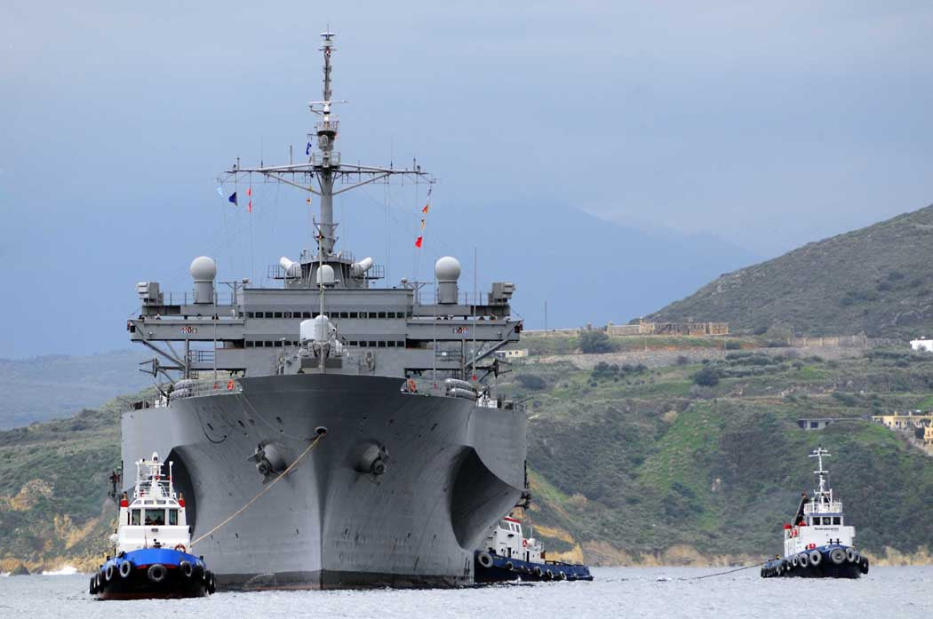 "USS Mount Whitney LCC-20 SOUDA BAY, Greece (Feb. 28, 2012) - 4"" x 6"" Photograph"