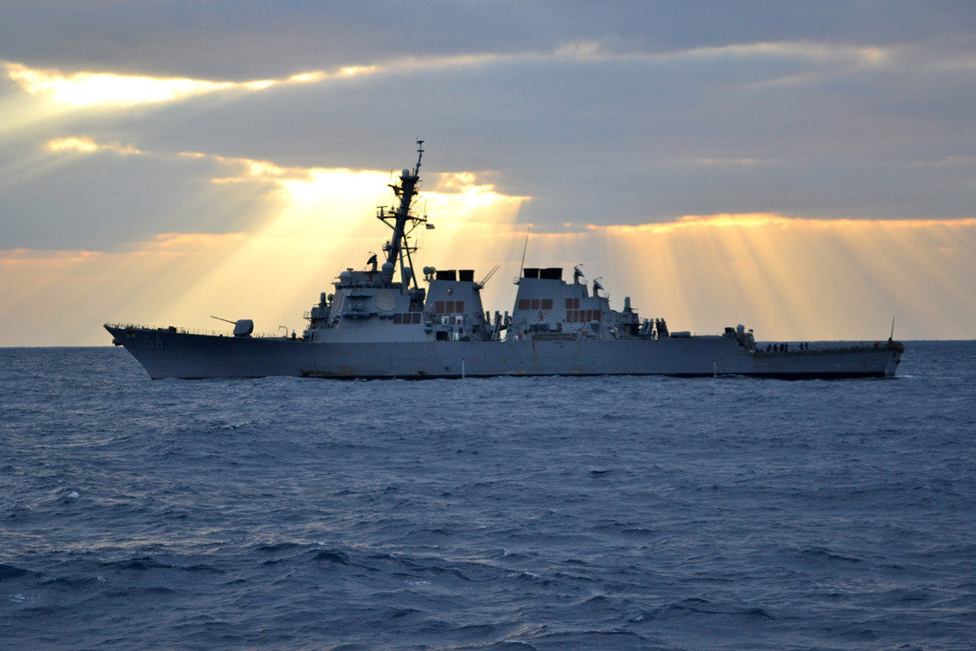 "USS Curtis Wilbur DDG-54 PHILIPPINE SEA (Feb. 1, 2012) - 4"" x 6"" Photograph"