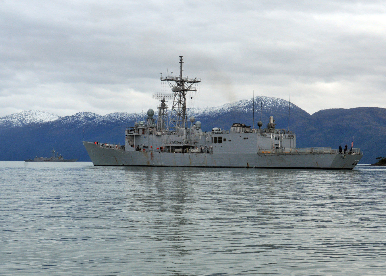 "USS Thach FFG-43) STRAIT OF MAGELLAN (May 26, 2011) - 4"" x 6"" Photograph"