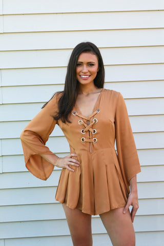 Caramel Romper - FLASH SALE