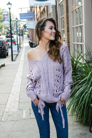 Lizzie Lace Up Sweater