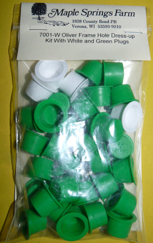 Oliver Tractor Green & White Dress Up Plug Kit 1650 1655 1750 1755 1800 1855