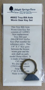 "NEW Troy Bilt Axle HYPRO KEY 1/4"" X 1"" Key (M-GW-9305) + 2 Snap Ring Set"