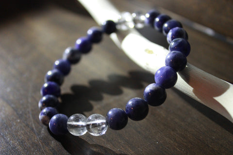 Healing Stone Bracelet - Clear Quarts Sodalite - Outline Apparel