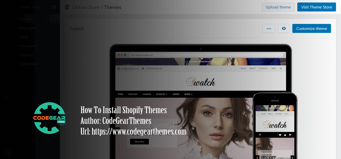 How to Install shopify Theme