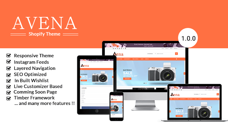 Avena Screenshot - Shopify Theme