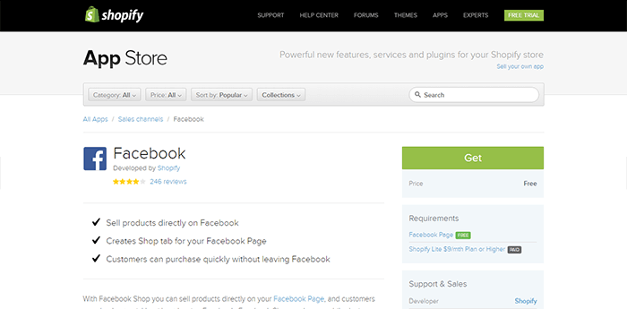 Facebook Shopify Apps
