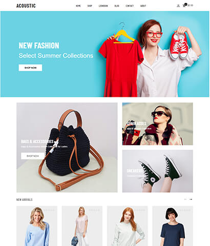 Premium WordPress WooCommerce Theme  Acoustic