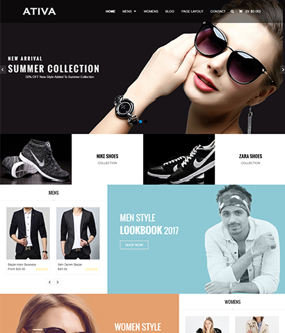 Ativa - Shopify Clothing & Fashion Themes