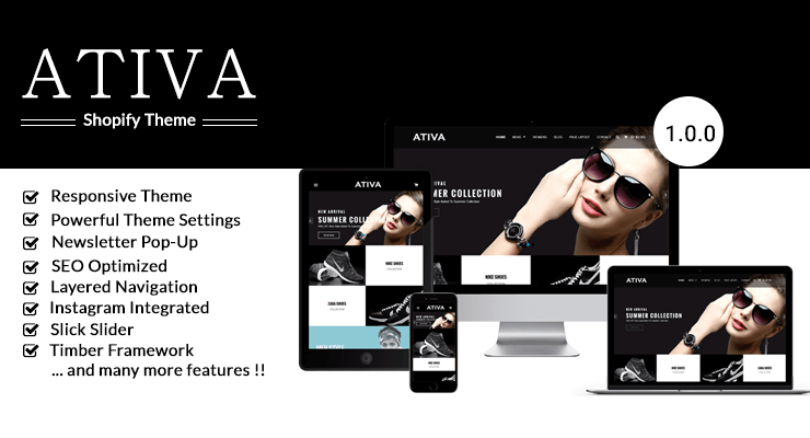 Ativa - Best Premium Shopify Fashion / Boutique Theme