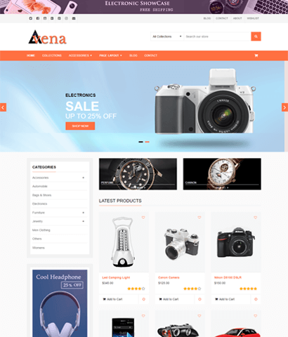 Avena-Electronic eCommerce Websites Templates