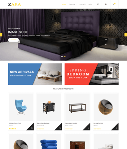 Zara-Shopify Templates For Furniture