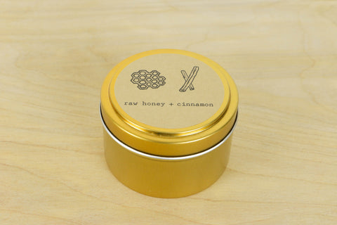 Raw Honey + Cinnamon Tin