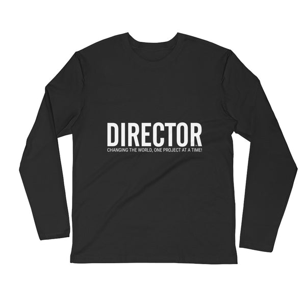 Director | Black Long Sleeve Fitted Crew