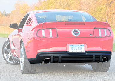 Mustang Exhaust with Square Tips and Rear Valance (2011-2012)