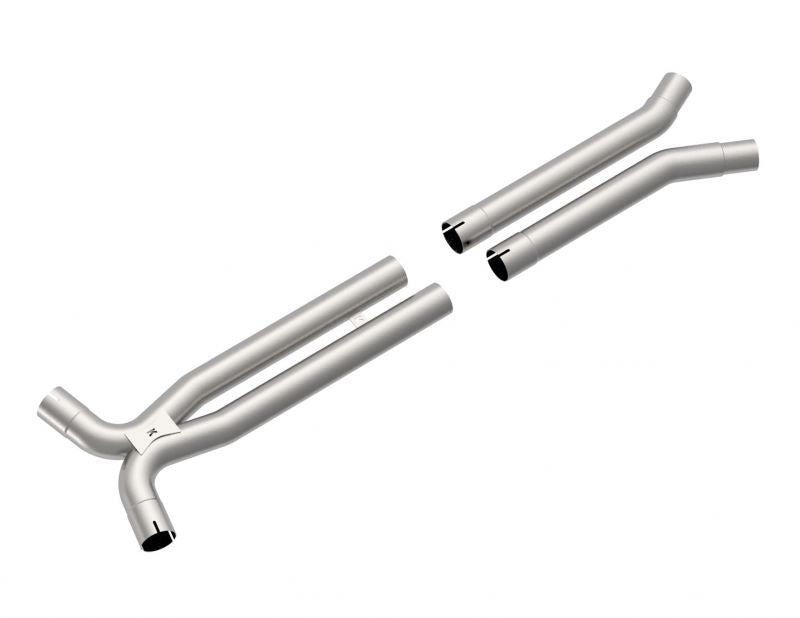 "3"" X 2 3/4""(OEM) STAINLESS RESONATOR DELETE X-PIPE. 2020 FORD MUSTANG GT500 5.2L"