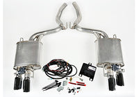 2015-2017 Mustang 5.0L V8 ROUSH Quad Tip Active Exhaust Kit (COUPE ONLY)